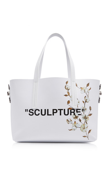 Off-White c/o Virgil Abloh Cotton Flower Shopper Bag