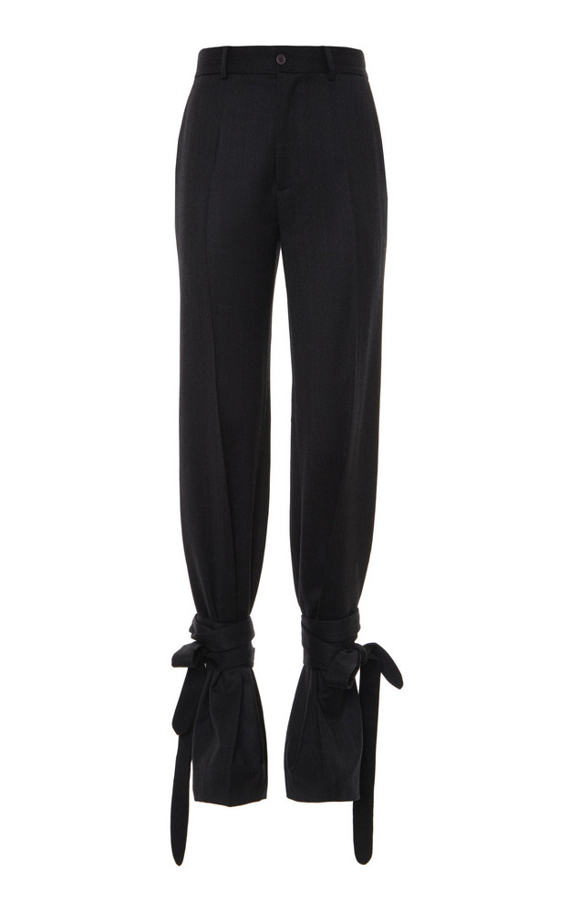 Attico Tailored Wrapped Trousers in grey
