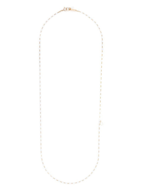 Isabel Marant beaded chain necklace in white