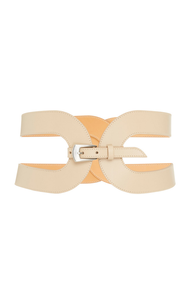 Maison Vaincourt Exclusive Cage Leather Waist Belt Size: 80 cm in neutral