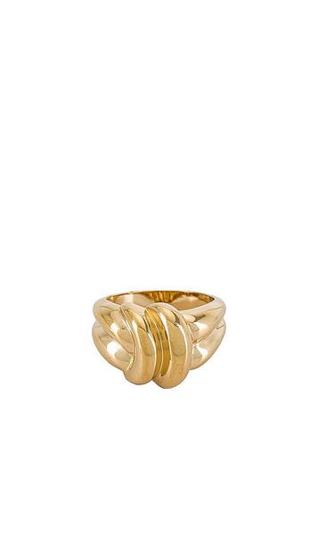 MIRANDA FRYE Daniella Ring in Metallic Gold