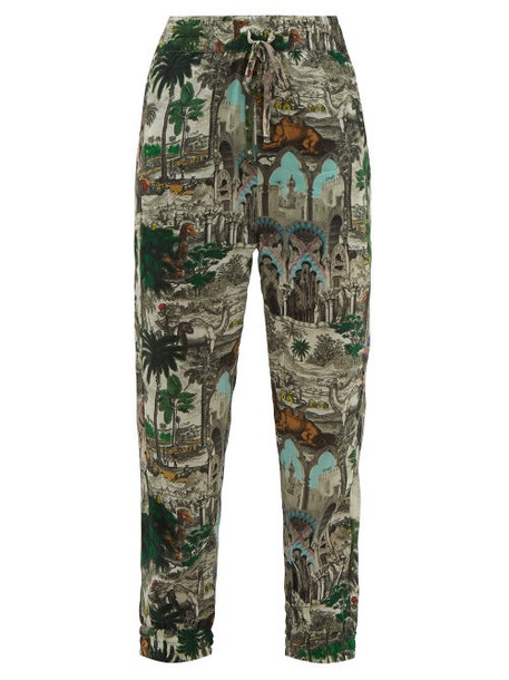 Chufy - Jamal Landscape Print Trousers - Womens - White Multi