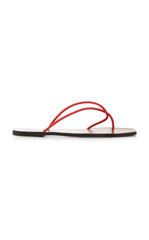 ATP Atelier Alessano Leather Sandals Size: 35 in red