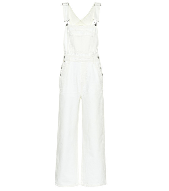 Citizens of Humanity Christie wide-leg overalls in white