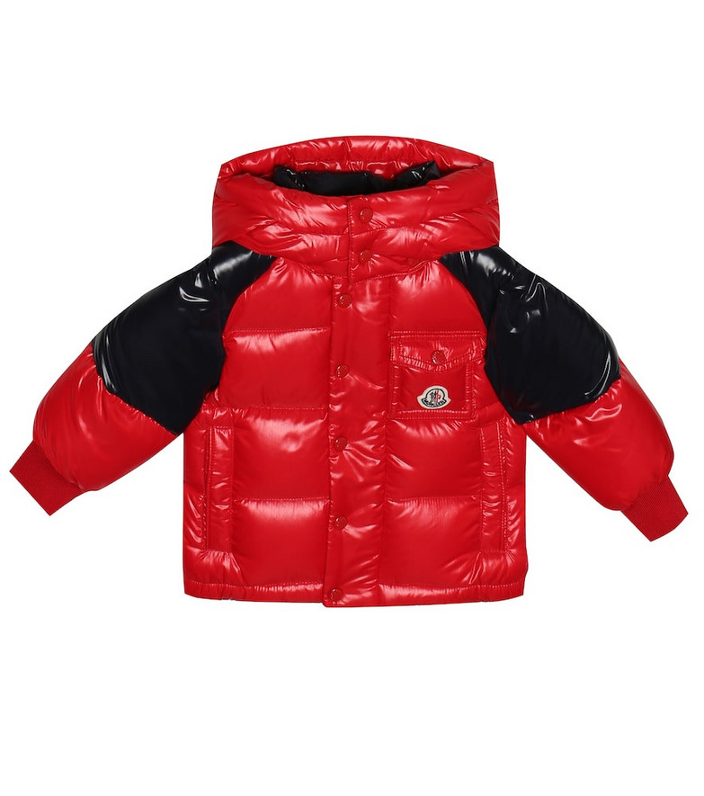 Moncler Enfant Baby Biarriz quilted down coat in red