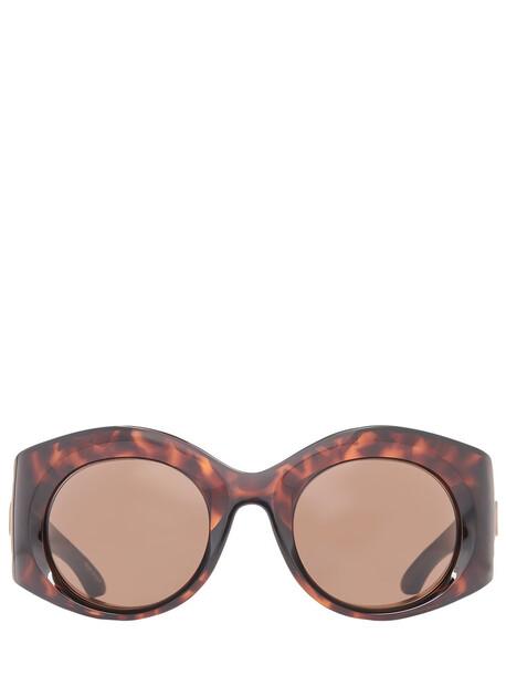 BALENCIAGA Bold Round Sunglasses in brown