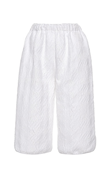 Hiraeth Jaquard High-Rise Shorts Size: 4 in white