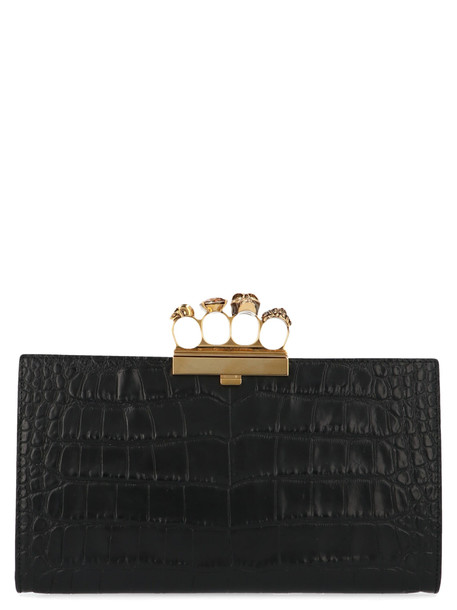 Alexander Mcqueen four Rings Bag in black