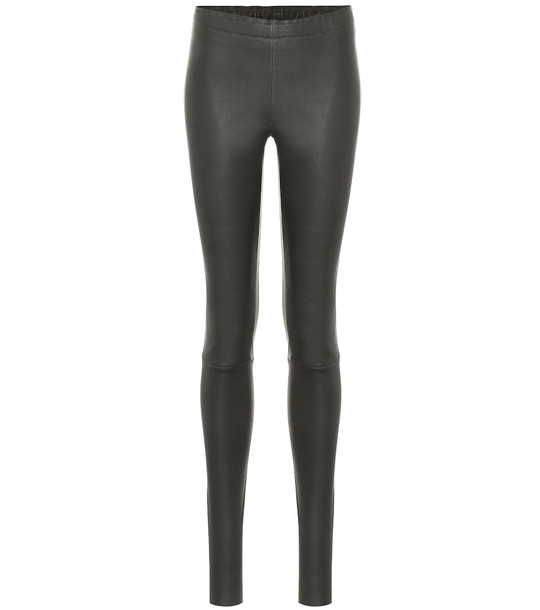 Stouls Carolyn leather leggings in grey