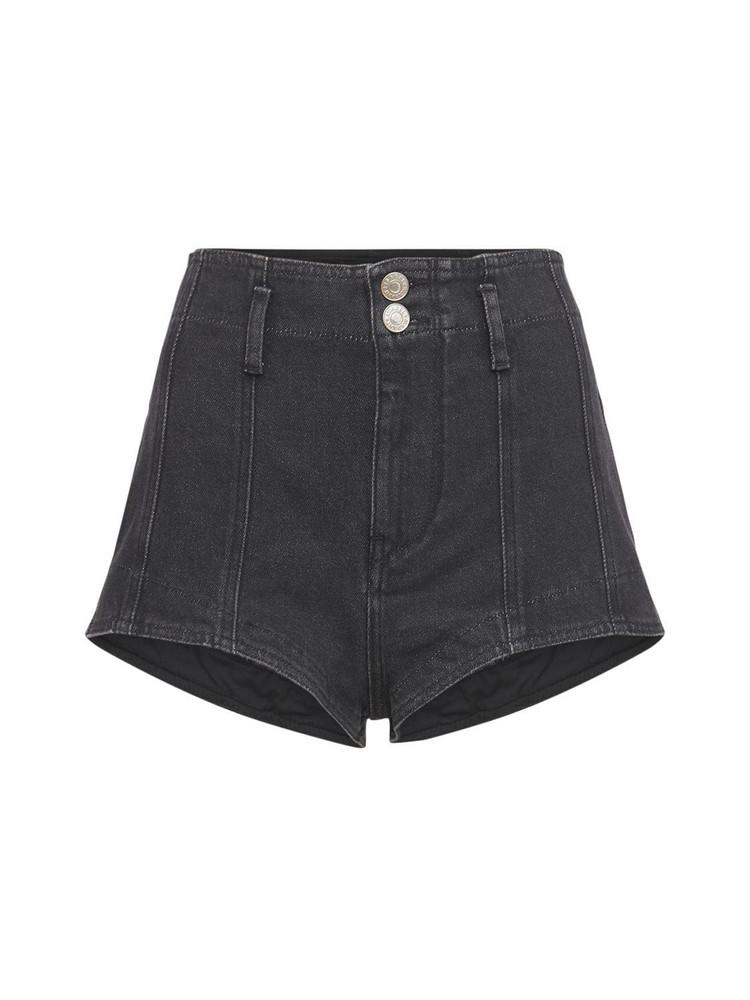 ISABEL MARANT Deversonbb Stretch Denim Shorts in black