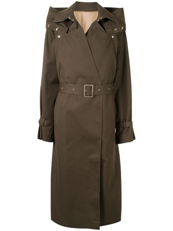 Boyarovskaya belted trench coat in green
