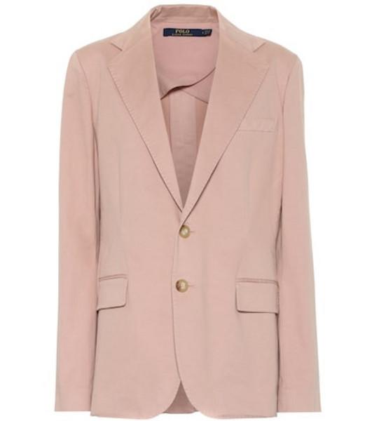 Polo Ralph Lauren Stretch-cotton blazer in pink