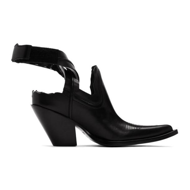 Maison Margiela Black Cut-Out Cowboy Boots