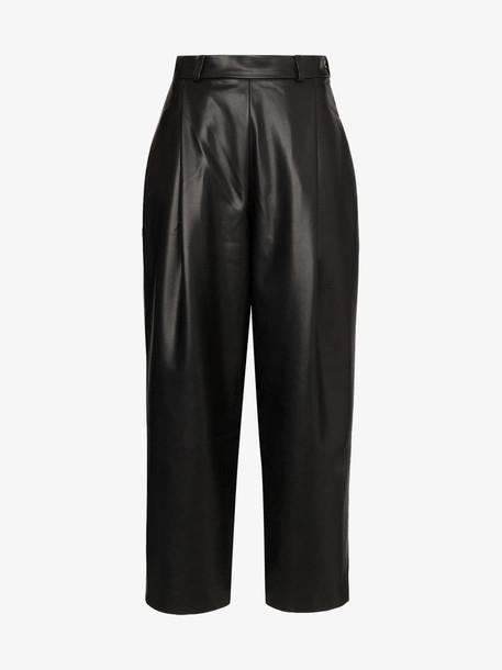 Anouki high-rise wide leg trousers in black