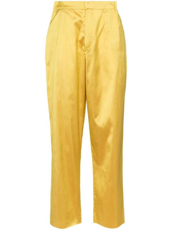 Marques'Almeida high rise straight-leg trousers in yellow