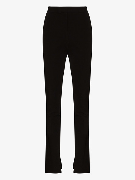 Helmut Lang Rider stretch cotton skinny trousers in black