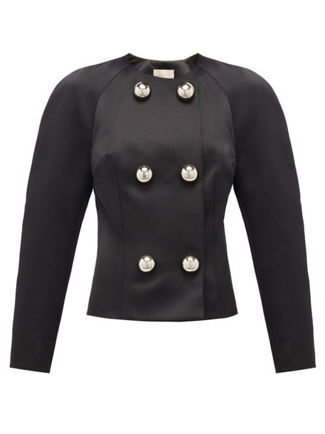 Christopher Kane - Dome-embellished Satin Jacket - Womens - Black