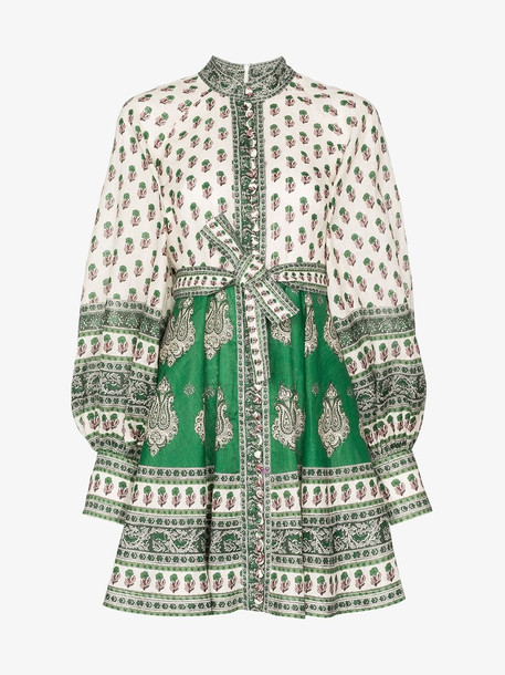 Zimmermann amari paisley print mini dress