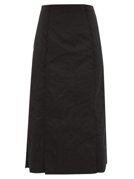 Brock Collection - Pietraluna Crinkle Effect Technical Skirt - Womens - Black