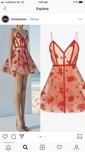 dress,red prom dress