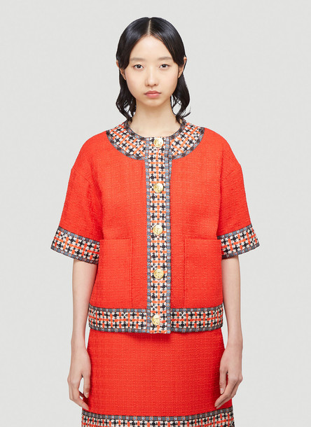 Gucci Tweed Jacket in Red size IT - 42