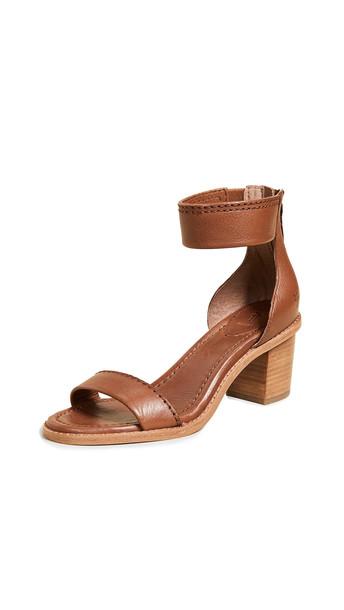 Frye Brielle Back Zip Sandals in copper