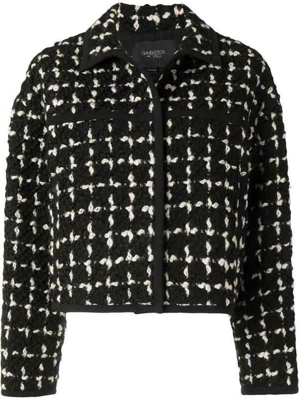 Giambattista Valli checked-woven jacket in black