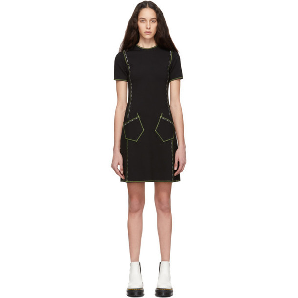 McQ Alexander McQueen Black Contrast Line Dress