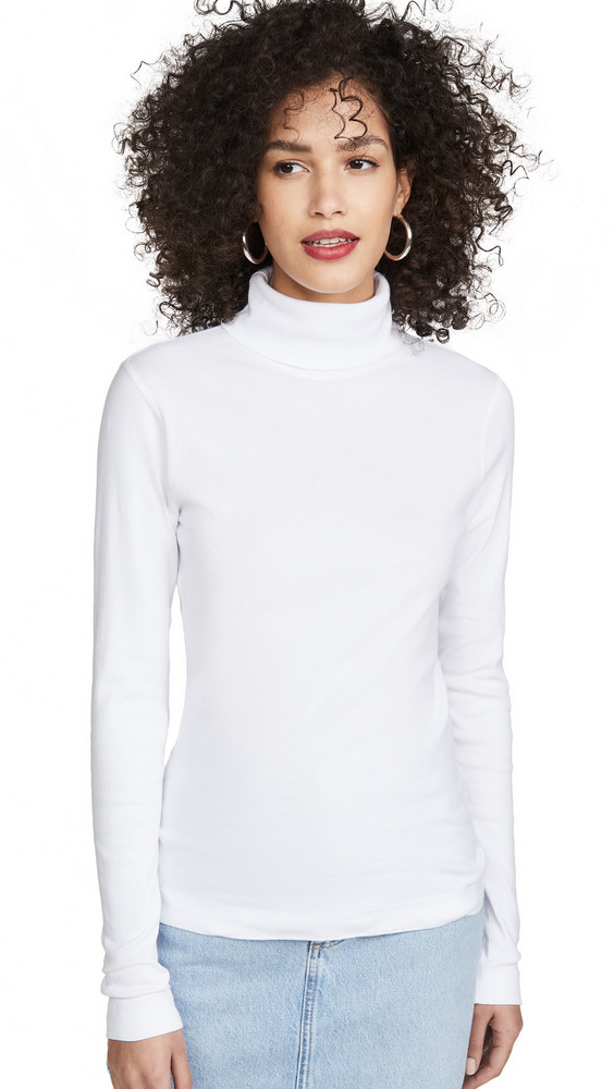Three Dots Heritage Turtleneck in white