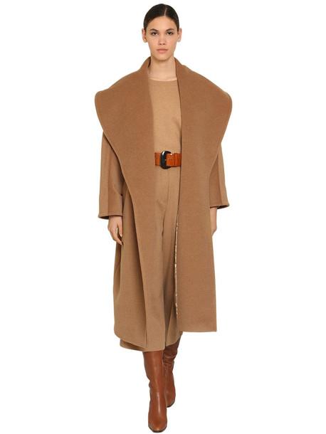 MAX MARA Belted Camel Coat