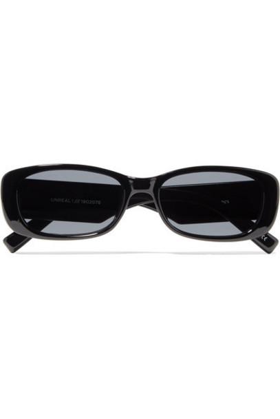 Le Specs - Unreal! Square-frame Acetate Sunglasses - Black