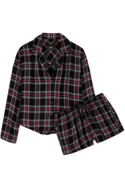 Rails - Checked Flannel Pajama Set - Burgundy
