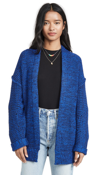 Free People High Hopes Cardigan in blue