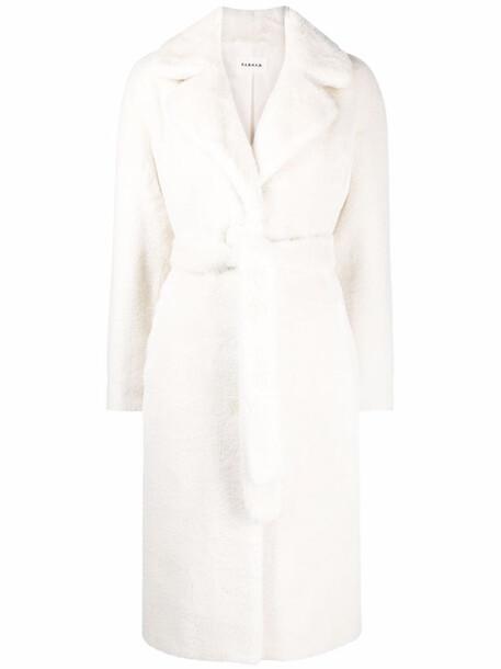 P.A.R.O.S.H. P.A.R.O.S.H. faux-fur tie-waist coat - Neutrals