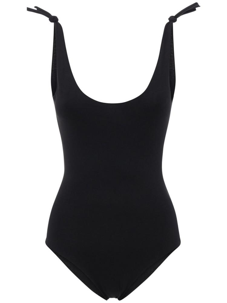 ISOLE & VULCANI Seamless Jersey One Piece Swimsuit in black