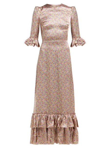 The Vampire's Wife - Cinderella Floral Print Silk Satin Maxi Dress - Womens - Pink Print