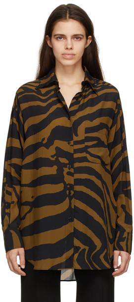 TOM FORD Brown & Black Antique Zebra Shirt