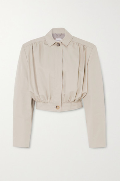 Magda Butrym - Ipswich Cropped Cotton-twill Jacket - Beige