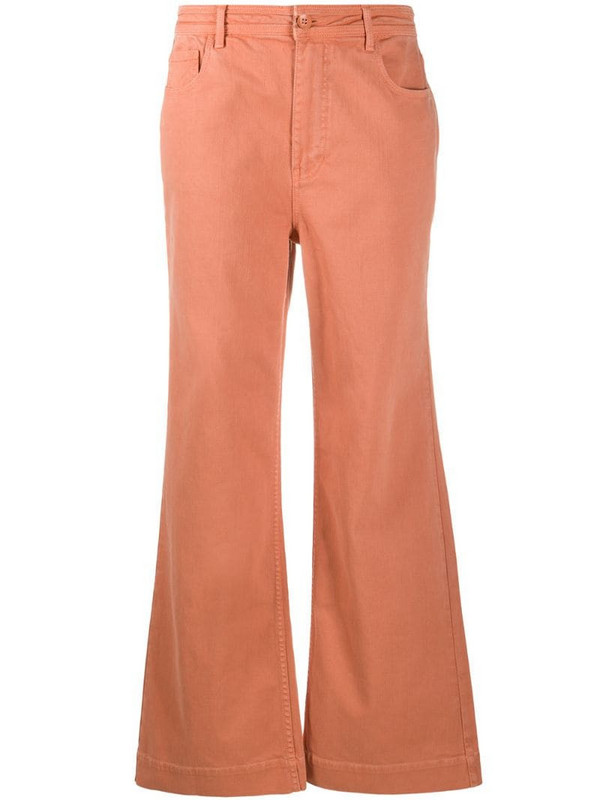 Ulla Johnson Theo flared jeans in pink