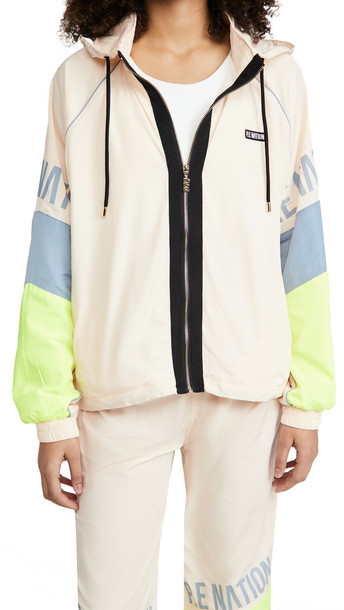 P.E NATION First Position Jacket in ivory