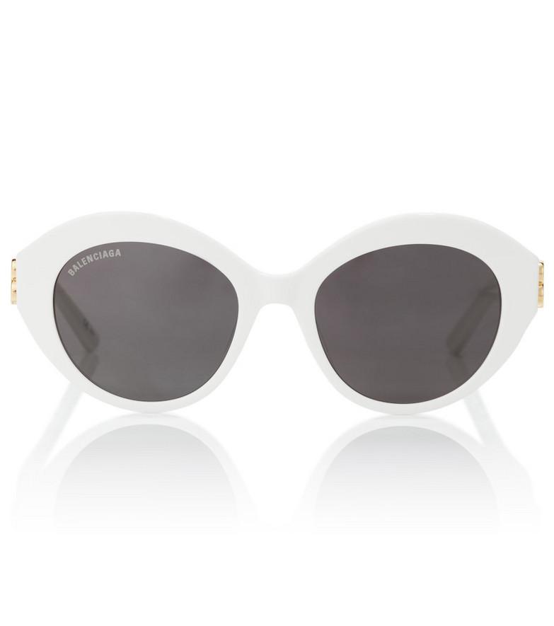 Balenciaga Oval acetate sunglasses in white