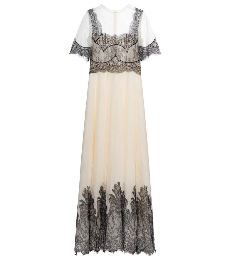 Costarellos Avina lace gown in white