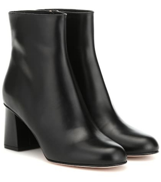RED (V) RED (V) leather ankle boots in black