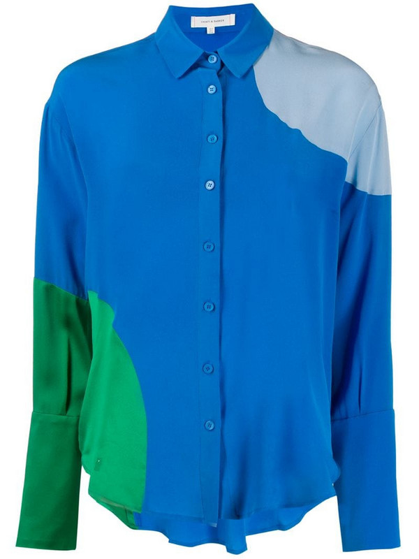 Chinti and Parker colour-block shirt in blue