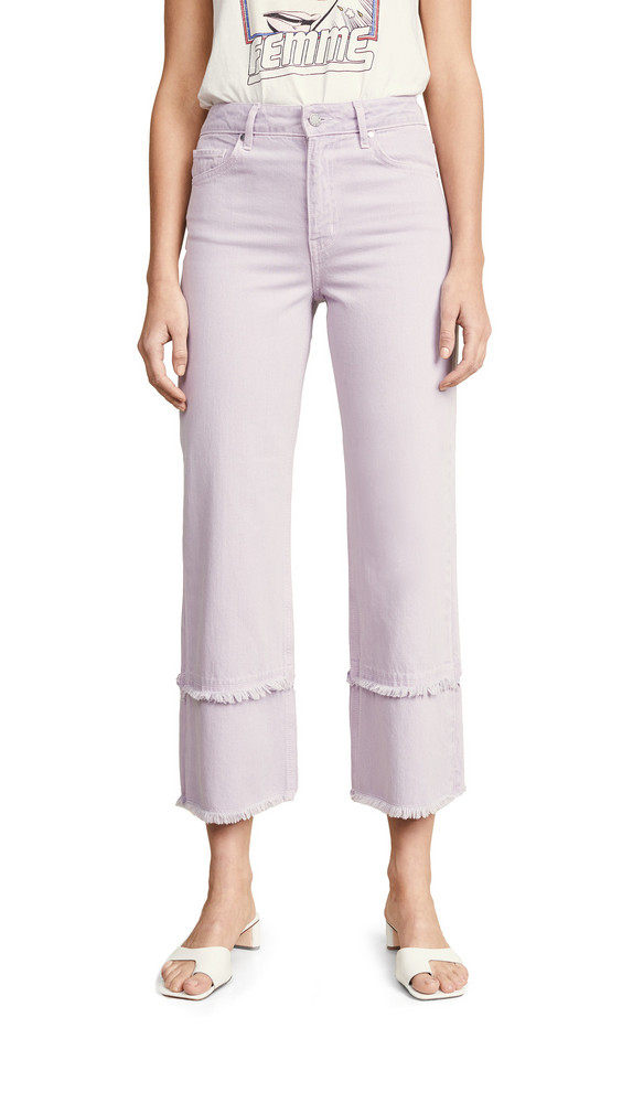 ei8htdreams Kate Wide Crop Frayed Jeans in lilac