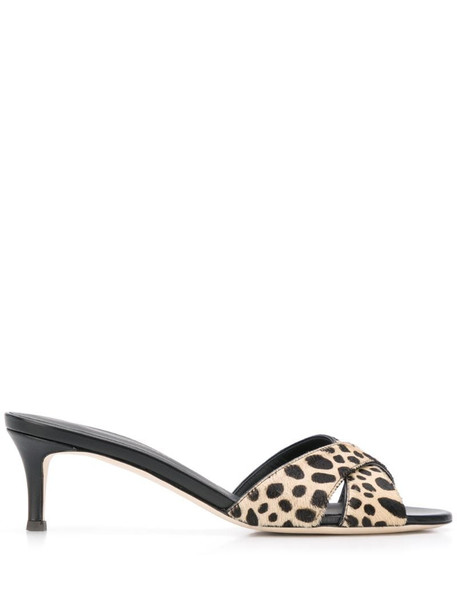 Giuseppe Zanotti cheetah-print sandals in neutrals