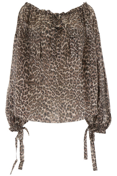 Zimmermann Leopard-printed Blouse