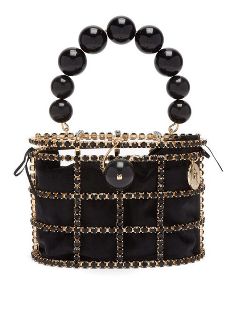 Rosantica By Michela Panero - Holli Crystal Embellished Bag - Womens - Black