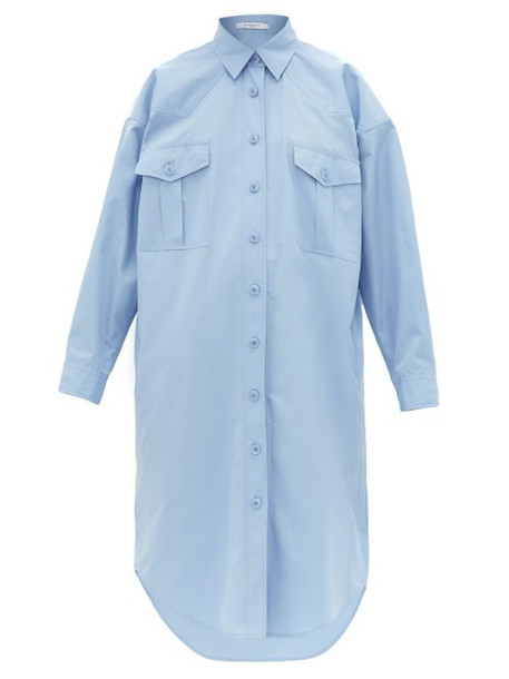 Givenchy - Oversized Cotton Poplin Shirtdress - Womens - Light Blue