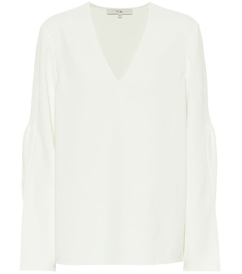 Tibi Chalky blouse in white